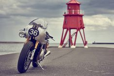 Triumph Thruxton R by Down & Out Cafe Racers, a collaboration build with Triumph Motorcycles and Barbour International.