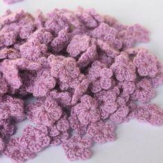 mini crochet purple size 1 cm  flowers crochet   30 by TheThailand