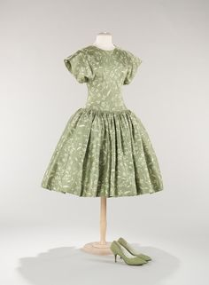 Norman Norell dress ca. 1956 via The Costume Institute of the Metropolitan Museum of Art by terri