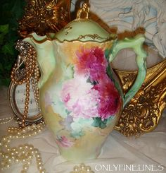 French - Chocolate - Coco - Coffee - Tea - Pot - Teapot - Hand from onlyfinelines on Ruby Lane