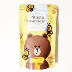 [NEW] Line Friends Cafe & Store Official Goods : Honey Butter Almond Popcorn Packaging, Kids Packaging, Dessert Packaging, Juice Packaging, Food Packaging Design, Brand Packaging, Friends Cafe, Line Friends, Baby Equipment