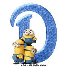 Minion Birthday, Minion Party, Boy Birthday, Alphabet, Diy Gifts, Denim Jeans, Arts And Crafts, Monogram, Clip Art