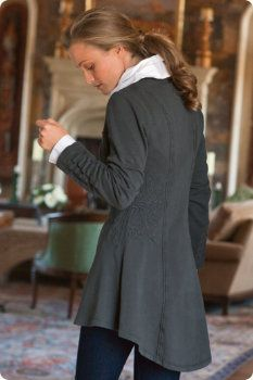 Tallulah Jacket.  Soft and sophisticated - a wonderful combination.  I love the curved hem.