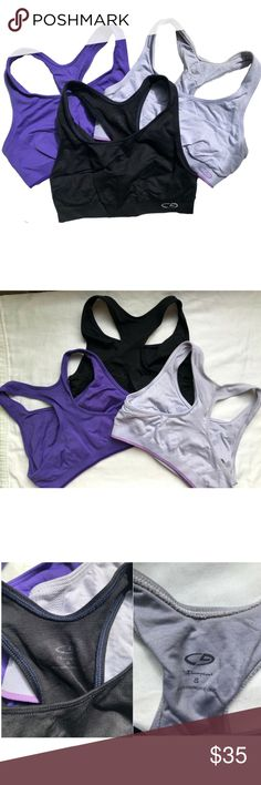 ae69ec0112 Set of 3 Champion Sports Bras 3 sports bras by Champion. All size small.