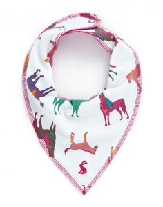 Bandana Bibs. This would be cute to make out of different color bandanas.