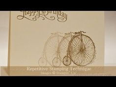 TECHNIQUE WEEK 2  ... Repetitive Stamping Using Stampin' Up! - YouTube