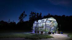 Grandio Greenhouse lit at night with stars. #greenhouse #photograph #Grandio #Raeford #Fayetteville