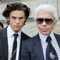 EVGENIA GL Baptiste Giabiconi et Karl Lagerfeld