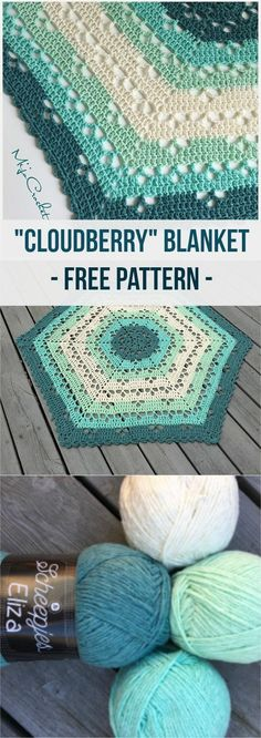 If you use the same yarn and gauge as indicated in the pattern this blanket will measure approximately 85 cm between two tips, and 75 cm between two sides (measured across the blanket). Link for free