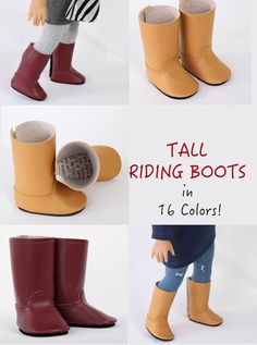 Handmade to fit like American Girl Doll Boots by ModernDollWorld