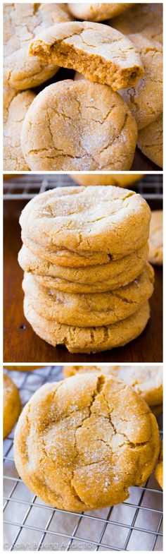 Super soft and chewy brown sugar cookies – no mixer required! Trust me, you'll want to double this recipe. Super soft and chewy brown sugar cookies – no mixer required! Trust me, you'll want to double this recipe. Baking Recipes, Cookie Recipes, Dessert Recipes, Baking Ideas, Just Desserts, Delicious Desserts, Yummy Food, Brown Sugar Cookies, Sallys Baking Addiction