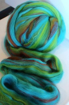 Verdigris colorway with 20% tussah silk, and the rest merino.