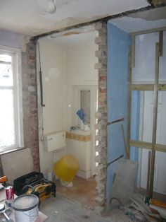 Removal of internal walls.