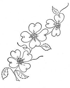 Dogwood Blossom Clipart - Free Clip Art Images