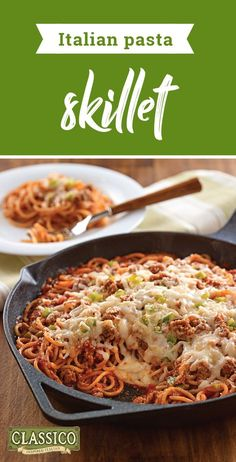 Italian Pasta Skillet – Discover your new favorite weeknight dish with our delicious Italian-inspired recipe! You only need 30 minutes to make this cheesy dish for your dinner table—no wonder it's sure to be a favorite for busy nights.