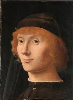 Portrait of a Young Man by Antonello da Messina, ca. 1470 -