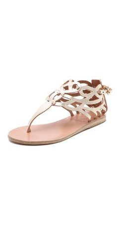 Ancient Greek Sandals Medea Thong Sandals  Soon it will be spring and we can wear these again.