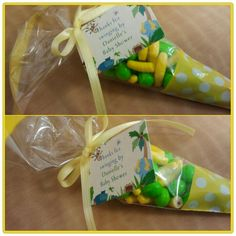 Baby Shower favors #yellow