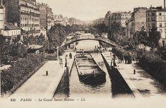 Paris, le Canal Saint-Martin vers 1900.