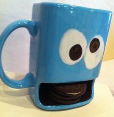 Monster Kids Cookie Dunk  and Milk Mug by Mypolkadotpottery, $22.00