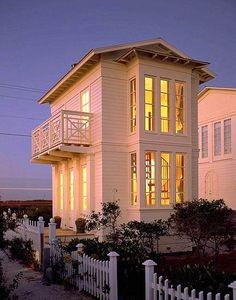 Pretty little beach cottage - Seaside, FL Beach Cottage Style, Coastal Cottage, Coastal Homes, Coastal Living, Beach Homes, Coastal Decor, Coastal Bedrooms, Modern Cottage, Dream Beach Houses