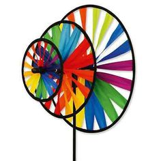 Awesome Windspiel Windrad Chinarad bunt mehrfarbig Deko Terasse Garten Balkon