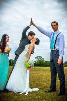 #Wedding #Bride #Groom #Kiss #HighFive #BestMan #MaidOfHonor