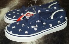 5f6e608637 NEW Vans MLB New York Yankees Navy Blue Authentic Kids SZ 3  fashion   clothing