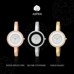 These watches are the highlight of our Feminine Exclusive collection.  #aspen #watch #woman