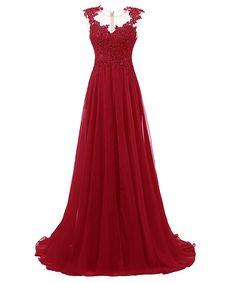 Amazon.com: Dresstells Long Prom Dress Scoop Wedding Dress Beadings Evening Gown Blush Size 2: Clothing