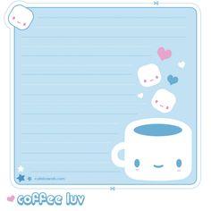 Coffee Luv Memo Sheet by ~riaherod on deviantART