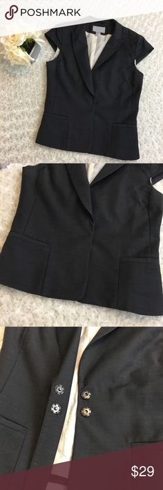 H&M Women's Short Sleeve Formal Grey Buttoned Vest Good Condition. Jackets & Coats Vests