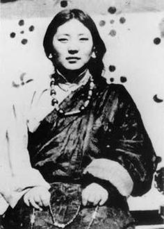 "The wife of Jamyang Khyentse Chökyi Lodrö, one of the most eminent Master of the 20th century, was universally regarded as one of the supremely realized female buddhist practitioners of our time. Tibetan called her ""hidden Master"" because troughout her life she refused to preach with words, yet she taught by her sheer presence, beauty and example. Dilgo Khyentsé Rinpoché called her ""The Queen of Dakinis"""