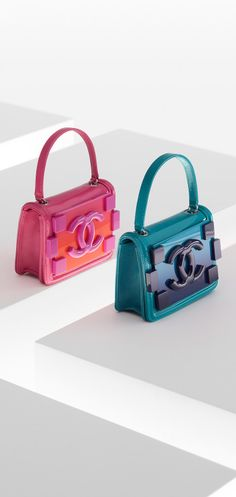 Plexiglas, patent calfskin and lambskin flap bag - #CHANEL