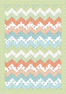 Zigzag Quilt Design - I've made this one - it's SO easy!
