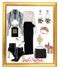 """""""SVR style"""" by svrrvs ❤ liked on Polyvore featuring Alessandra Rich, Andrea Bogosian, Dolce&Gabbana, Givenchy, Marni, Effy Jewelry and Shinola"""