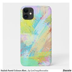 Stylish Pastel Colours Abstract Art Case-Mate iPhone Case