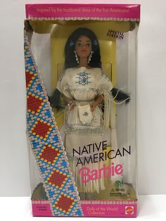 (TAS032140) - 1992 Mattel Barbie Native American Special Edition Doll