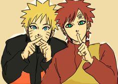 Naruto and Gaara Naruto Shippuden Sasuke, Sasunaru, Anime Naruto, Hinata, Naruhina, Boruto, Naruto Cute, Shikamaru, Naruto Clans