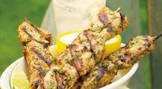 Check out this delicious recipe for Jerk Chicken Skewers with Honey-Lime Cream from Weber—the world& number one authority in grilling. Weber Bbq Recipes, Grilling Recipes, Cooking Recipes, Smoker Recipes, What's Cooking, Paleo Recipes, Yummy Recipes, Lime Cream