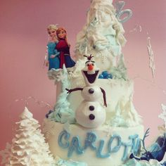 #frozen #cake www.lallabycakes.blogspot.it