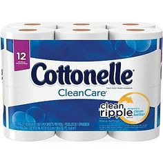 Cottonelle CleanCare Family Roll Toilet Paper (Pack of 36 Rolls), Bath Tissue, Ultra Soft Toilet Paper Rolls with Clean Ripple Texture, Sewer and Septic Safe - List for Home and Garden Products Tissue Types, Septic System, White Towels, Toilet Paper Roll, Texture, Cleaning Supplies, Rolls, Walgreens Coupons, Target Coupons