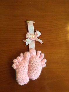 Hand Knitted Baby Feet Pram Charm/Baby Shower Gift/Baby Gift Knitted Baby, Baby Knitting, Baby Shower Gifts, Baby Gifts, Pram Charms, Baby Feet, Baby Shoes, Christmas Ornaments, Holiday Decor