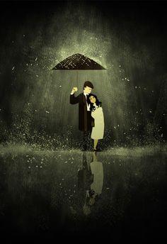 Eram só dois pingos de chuva que se achavam um caso de amor...