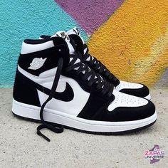 Nike Air Jordan 1 Black and White Now available for € at PostuZap . Jordan 1 Black, Jordan 1 Retro High, Nike Air Jordan Retro, Jordan Shoes Girls, Nike Jordan Shoes, Best Jordan Shoes, Jordan Outfits, Girls Shoes, Sneaker Shop
