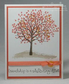 http://dreamingaboutrubberstamps.com - Sheltering Tree with Best Year Ever Accessory Pack - love all the look that can be created with just this one set from Stampin' Up!