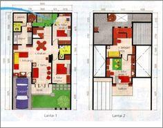 Gambar Denah Rumah Minimalis 2 Lantai Modern 5