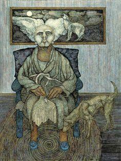 The Grandmother - Meinrad Craighead