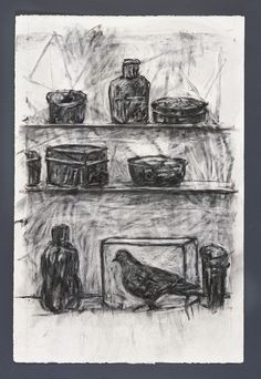 William Kentridge, Drawing for Medicine Chest, 2001