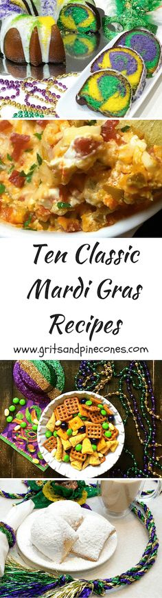 "Let the ""good times roll"" and with these ten delicious and easy to prepare classic Cajun and Creole-themed Mardi Gras recipes.   via @http://www.pinterest.com/gritspinecones/"